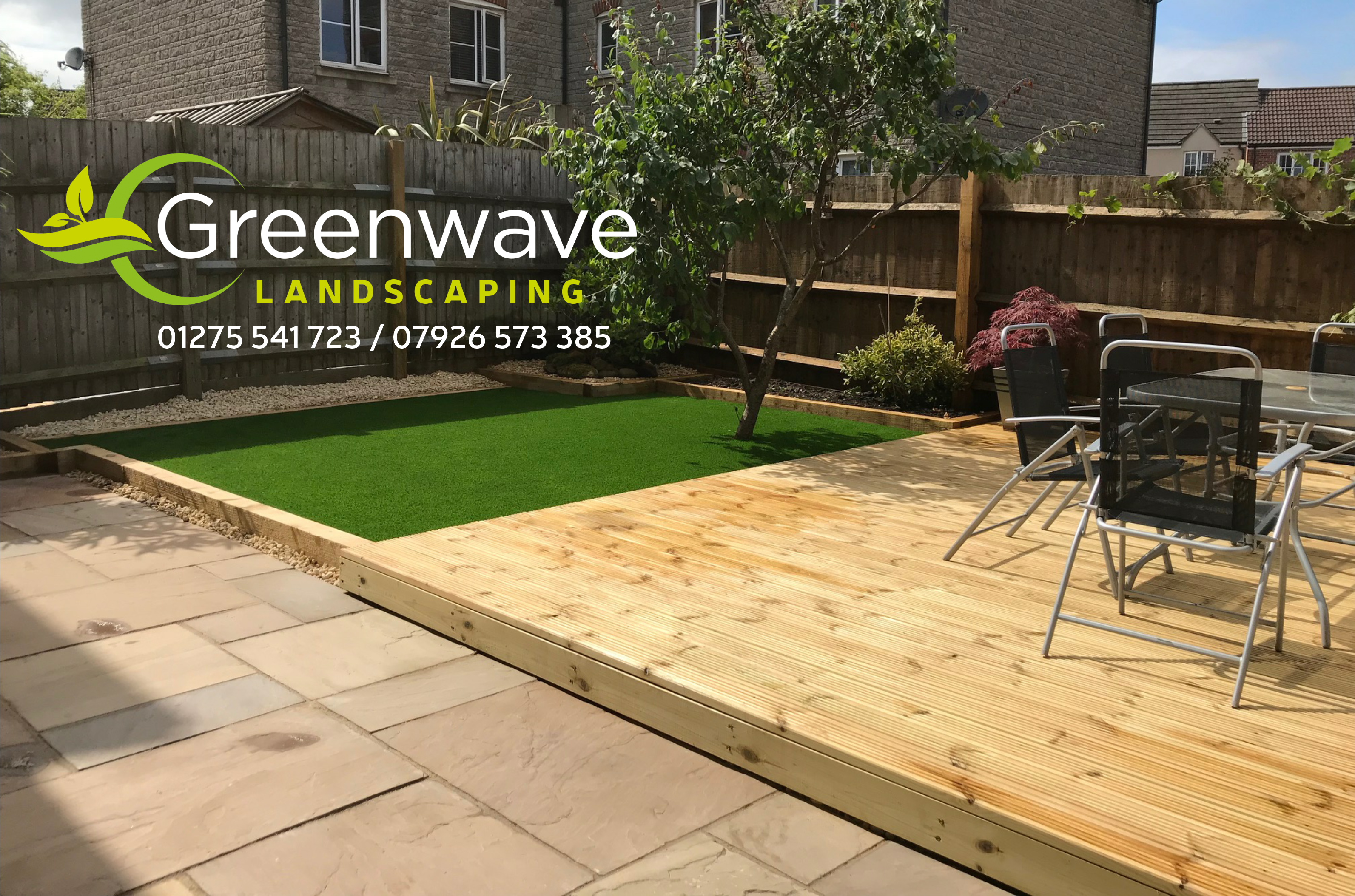 greenwave landscaping bristol decking patio lawns turf artificial grass